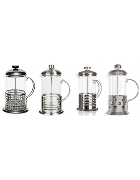 Lunai Koffie-/Theemaker - Glas - Roestvrij Staal - French Press - 600 ml